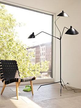 Serge mouille three arm floor lamp lighting modern Serge mouille three arm floor lamp